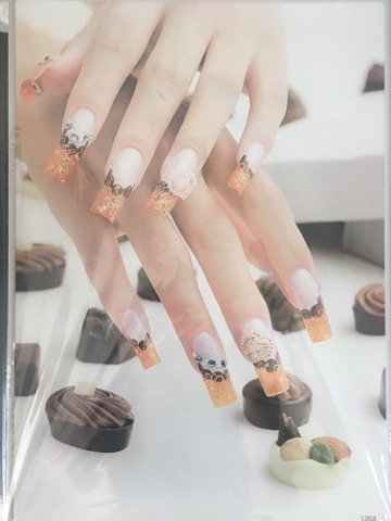 Posters nail art studio poster chocolate orange design prinsesfo Image collections